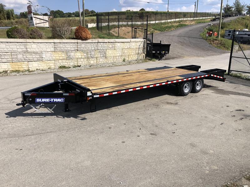 2020 Sure-Trac 102x20+5 15K Beavertail Deckover Trailer * PIERCED FRAME * 12