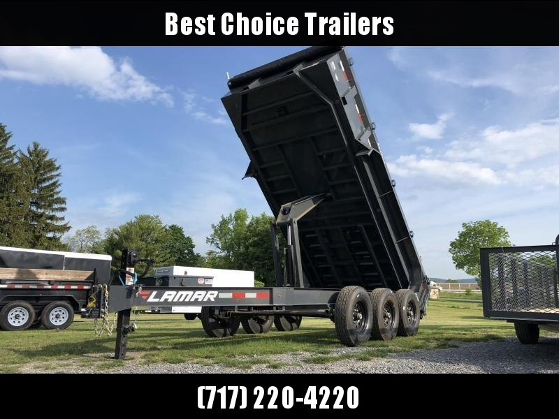 "2020 Lamar 7x16' Dump Trailer 21000# GVW * TARP * RAMPS * DUAL 12K JACKS * REAR SUPPORT STANDS * 12"" O.C. CROSSMEMBERS * SPARE MOUNT * OIL BATH HUBS"