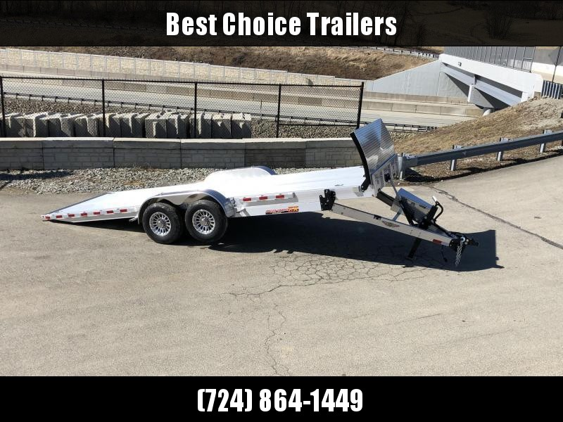 2020 H&H 7x22' Aluminum Power Tilt Equipment Trailer 14000# GVW * DELUXE * TORSION * ROCK GUARD * EXTRUDED FLOOR *  4 SWIVEL D-RINGS * 4 EXTRA STAKE POCKETS * TOOLBOX * LOADED
