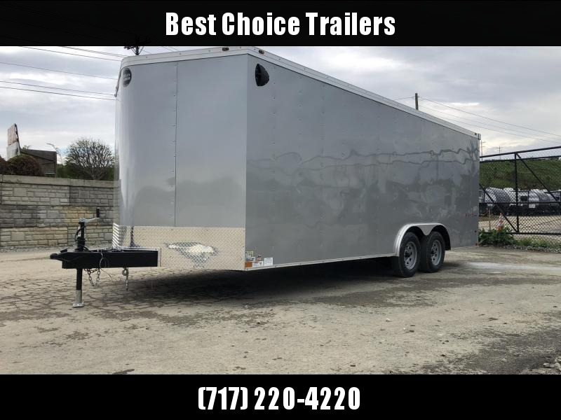 2020 Wells Cargo 8.5x20' Fastrac DELUXE Enclosed Car Trailer 7000# GVW * SILVER EXTERIOR * RAMP DOOR * .030 METAL * CLEARANCE