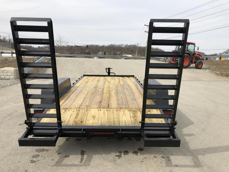 2019 AMO 7x16' Equipment Trailer 12000# GVW * STAND UP RAMPS * LED TAIL LIGHTS * CLEARANCE