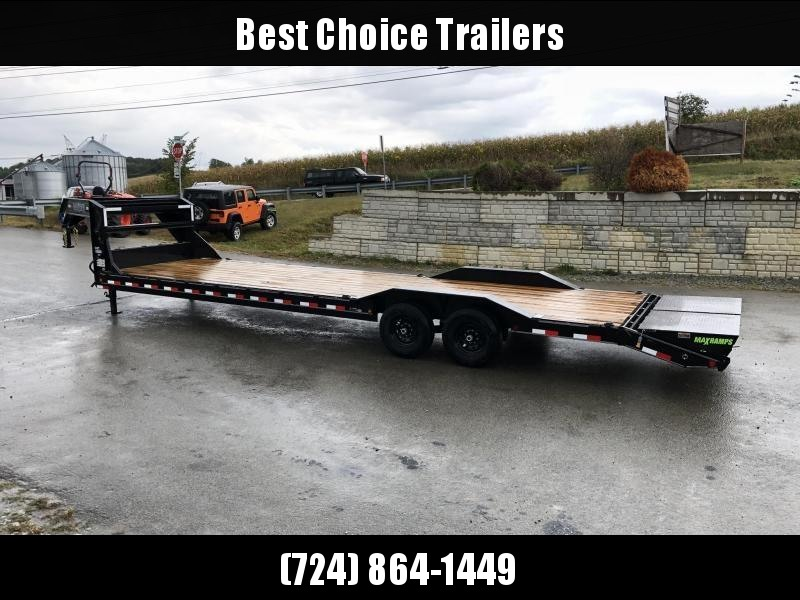 "2020 Load Trail 102x34' Gooseneck Car Hauler Trailer 14000# GVW * 102"" DECK * DRIVE OVER FENDERS * OVERLENGTH 7' SLIDE IN RAMPS * WINCH PLATE * RUBRAIL * 2-3-2 WARRANTY * PRIMER * DEXTER'S"
