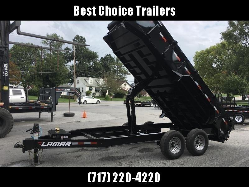 2020 Lamar 7x16' Dump Trailer 14000# GVW * TARP KIT *  RAMPS * 12K JACK * 7 GAUGE FLOOR * I-BEAM FRAME * CHARCOAL * 14-PLY RUBBER
