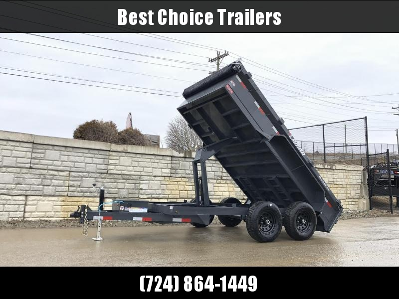 2020 Lamar 77x10' 9990# GVW Low Profile Dump Trailer * SCISSOR HOIST * DROP JACK * DELUXE TARP KIT * ADJUSTABLE COUPLER * CHARCOAL * SPARE MT * RIGID RAILS * HARD TO FIND WIDTH!!