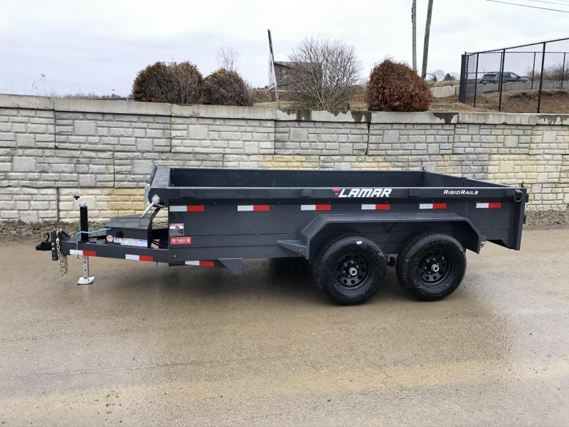 2020 Lamar DM 77x10' 9990# GVW Low Profile Dump Trailer * SCISSOR HOIST * DROP JACK * DELUXE TARP KIT * ADJUSTABLE COUPLER * CHARCOAL * SPARE MT