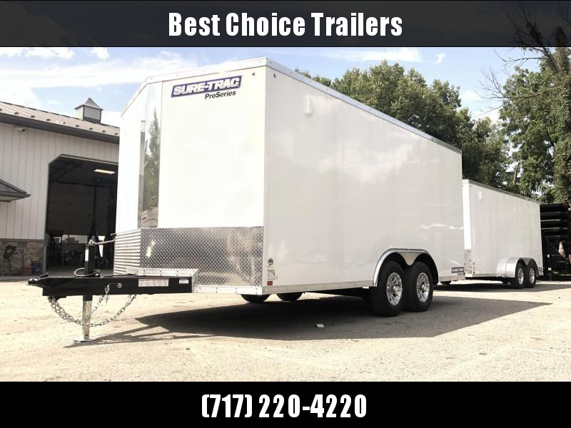 2020 Sure-Trac 8.5x16' Enclosed Cargo Trailer 9900# GVW * WHITE * CONTRACTOR/LANDSCAPER TRAILER