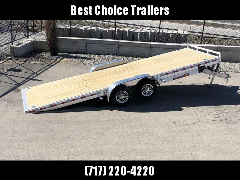 "2020 H&H 7x22' Aluminum Power Tilt Car Trailer 14000# GVW * 4 SWIVEL D-RINGS * 4 EXTRA STAKE POCKETS * 12K JACK  * SPARE TIRE & MOUNT * TOOLBOX * ALUMINUM WHEELS * HEAVY DUTY 8"" FRAME * REMOVABLE FENDERS * ADJUSTABLE COUPLER * 4"" CHANNEL C/M"