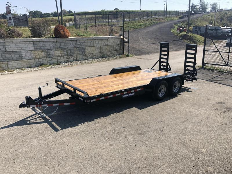 "2020 Sure-Trac Implement 7'x18' Equipment Trailer 14000# GVW * RUBRAIL/STAKE POCKETS/D-RINGS * 4"" RAMPS * SPARE MOUNT"