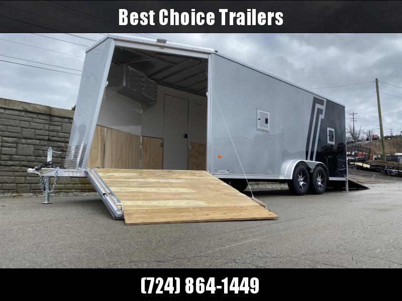 2020 Neo 7.5x23' Aluminum Enclosed All-Sport Trailer * 7' HEIGHT - UTV PKG * 2-TONE * FRONT RAMP * LOADED * UTV * ATV * Motorcycle * Snowmobile