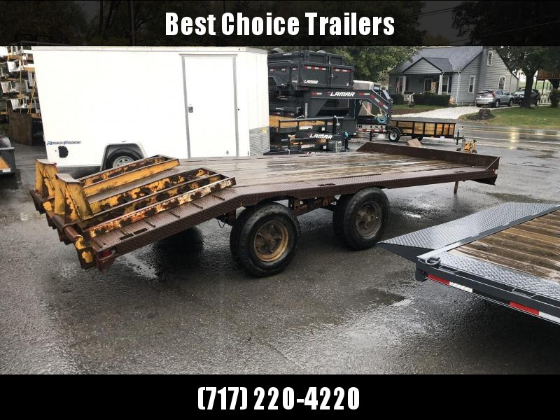 USED Centreville 102x20' Beavertail Flatbed Deckover 10000# GVW