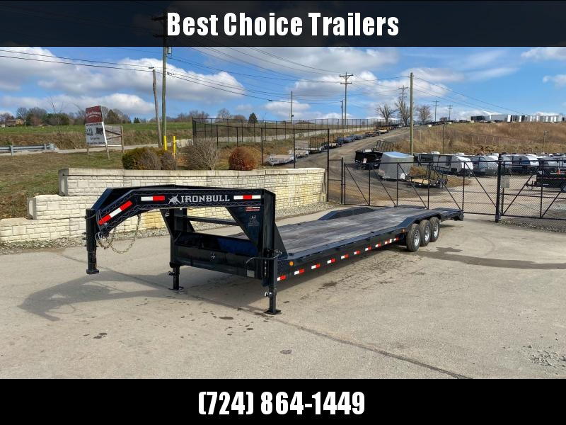 "USED 2019 Iron Bull 102x40' Gooseneck Car Hauler 21000# GVW * 102"" DECK * DRIVE OVER FENDERS * FULL WIDTH RAMPS"