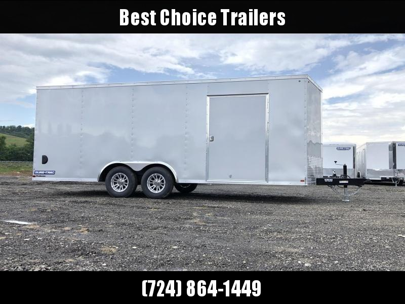 "2020 Sure-Trac 8.5x20' Enclosed Car Trailer 9900# GVW * DELUXE * SILVER * 7K JACK * ESCAPE HATCH * FINISHED WALLS * NUDO FLOOR & RAMP * TORSION * 48"" DOOR & MORE"