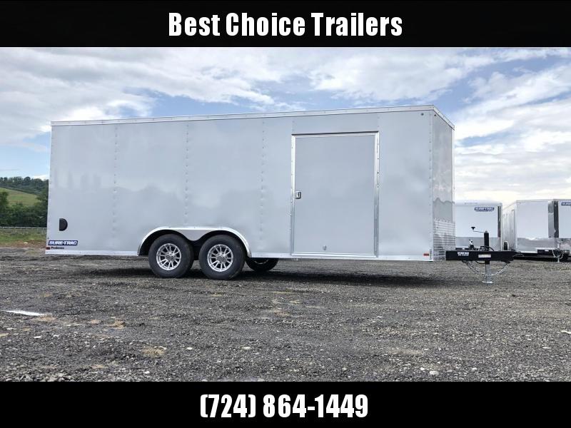 """2020 Sure-Trac 8.5x20' Enclosed Car Trailer 9900# GVW * DELUXE * SILVER * 7K JACK * ESCAPE HATCH * FINISHED WALLS * NUDO FLOOR & RAMP * TORSION * 48"""" DOOR & MORE"""
