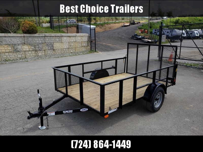 "2020 AMO 78""x10' Mesh HIGH SIDE Angle Iron Utility Landscape Trailer 2990# GVW * MESH HIGH SIDE"