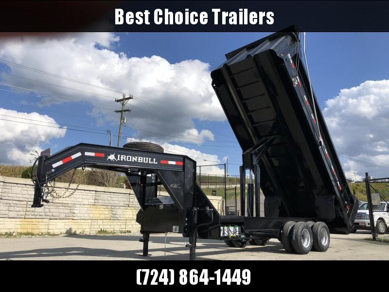 2020 Ironbull 8x20 Gooseneck Dump Trailer 24000# GVW Frankendump * 12000# DEXTERS * HD BODY * DELUXE TARP KIT * DUAL BATTERY