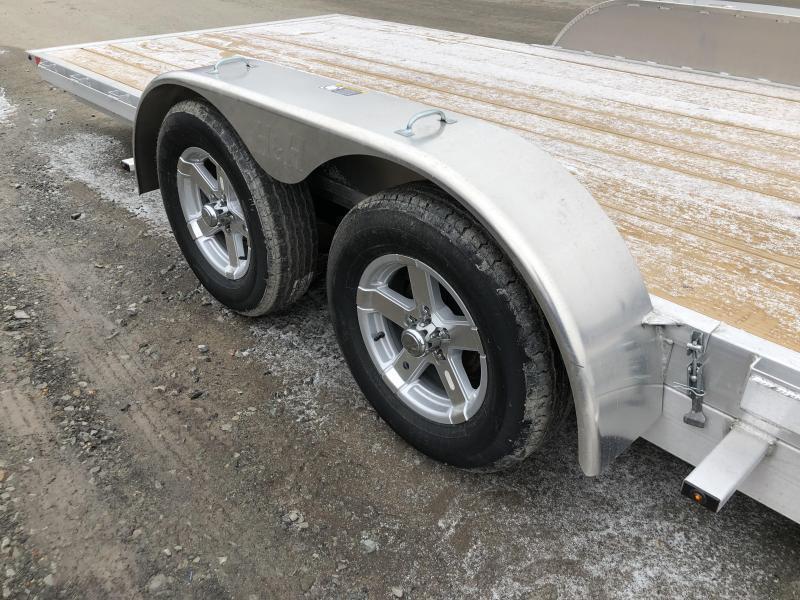 """2020 H&H 7x18' MXA Aluminum Manual Tilt Car Hauler Trailer 7000# GVW * 6"""" FRAME * REMOVABLE FENDERS"""
