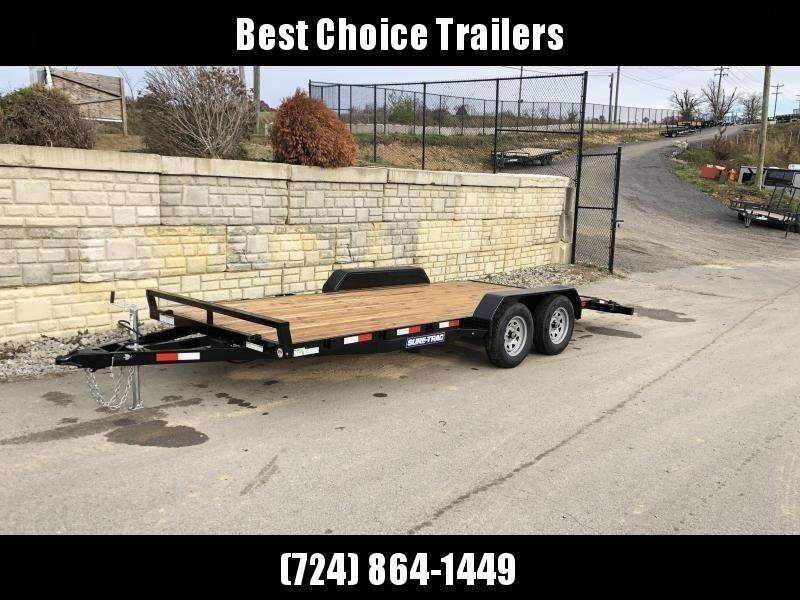2020 Sure-Trac CHW 7x18 7000# Wood Deck Car Hauler