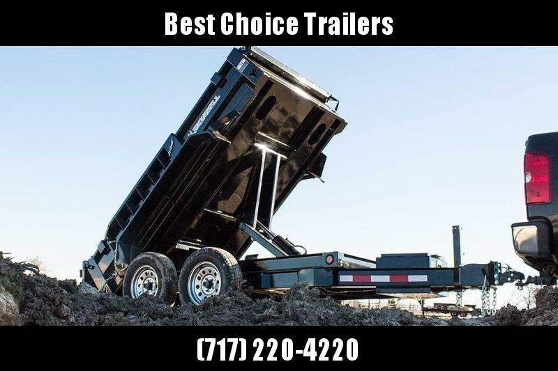"2020 IronBull 5x10' Dump Trailer 7000# GVW * OVERSIZE 5"" HOIST * TARP KIT * RAMPS * I-BEAM FRAME * INTEGRATED KEYWAY * 10 GA SIDES AND FLOOR * COMBO GATE * ADJUSTABLE COUPLER * DROP LEG JACK * 110V CHARGER"
