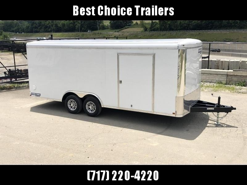 2020 Sure Trac 8.5x20' STRCH Commercial Round Top Enclosed Car Hauler Trailer 9900# * WHITE