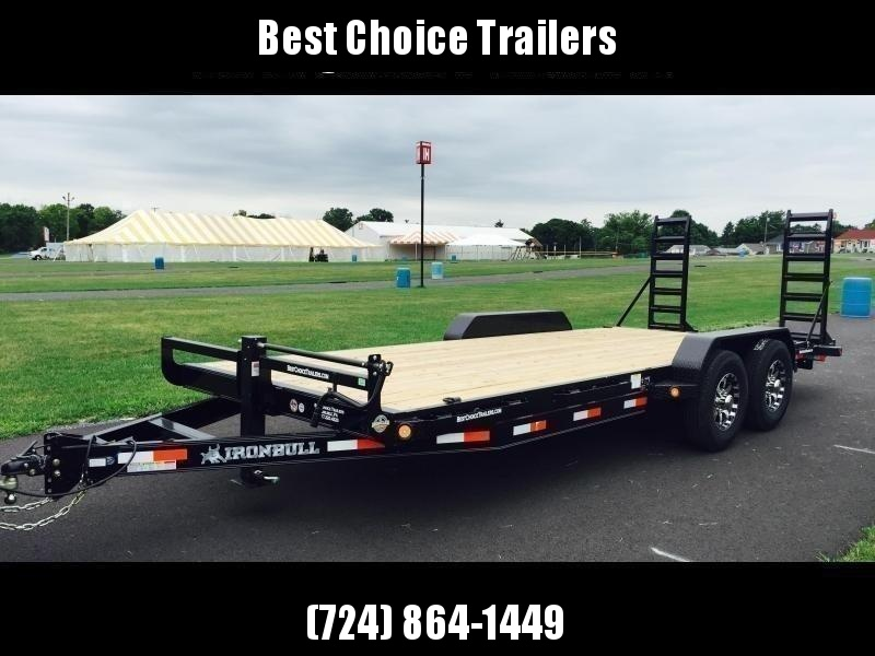 """2019 Ironbull 7x22' Equipment Trailer 14000# GVW * KNIFEEDGE RAMP W/ ADJUSTABLE SUPPORT * REMOVABLE FENDERS * 16"""" O.C. STRUCTURAL CHANNEL C/M * RUBRAIL/STAKE POCKETS/PIPE SPOOLS/D-RINGS * ADJUSTABLE CAST COUPLER * 12K JACK * DEXTER'S * CLEARANCE"""