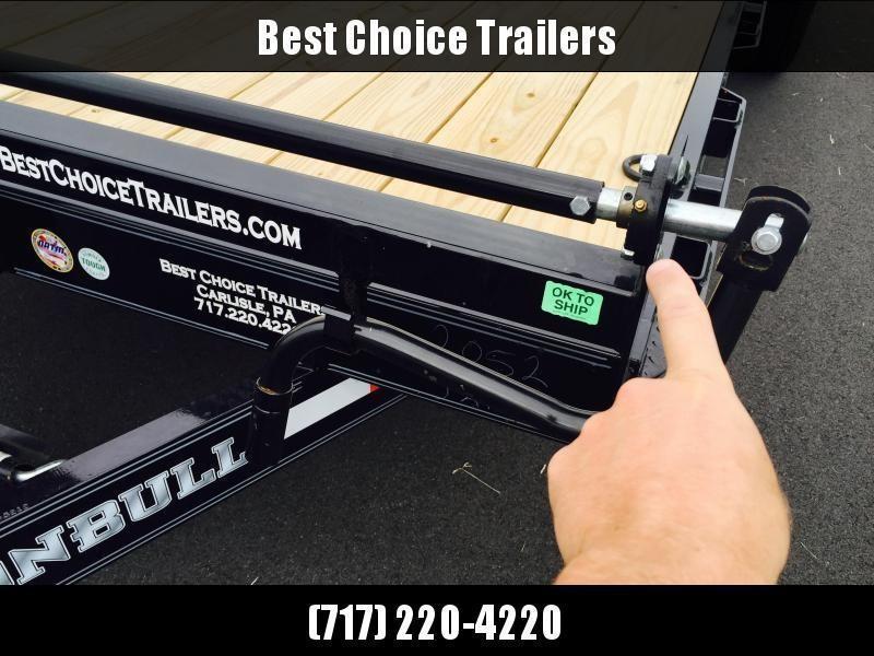 2019 Ironbull 7x22' Equipment Trailer 14000# GVW * RUBRAIL/STAKE POCKETS/PIPE SPOOLS/D-RINGS * ADJUSTABLE KNEE * KNIFEEDGE RAMP * REMOVABLE FENDERS