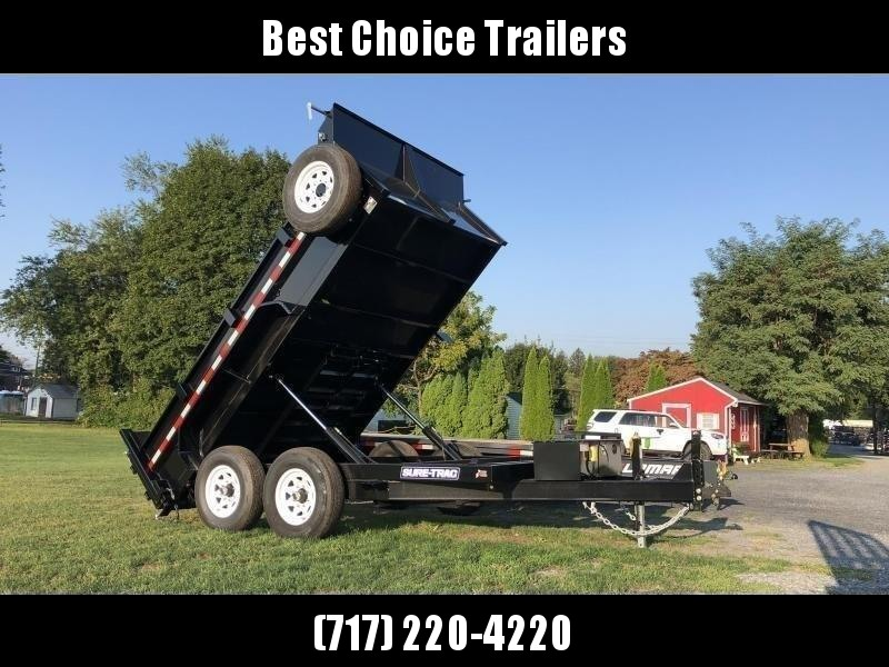 2020 Sure-Trac 7x14' Dump Trailer 14000# GVW * TARP KIT * HYDRAULIC JACK * 7 GAUGE FLOOR * DUAL PISTON * FRONT/REAR BULKHEAD * INTEGRATED KEYWAY * 2' SIDES * UNDERBODY TOOL TRAY * ADJUSTABLE COUPLER * 110V CHARGER