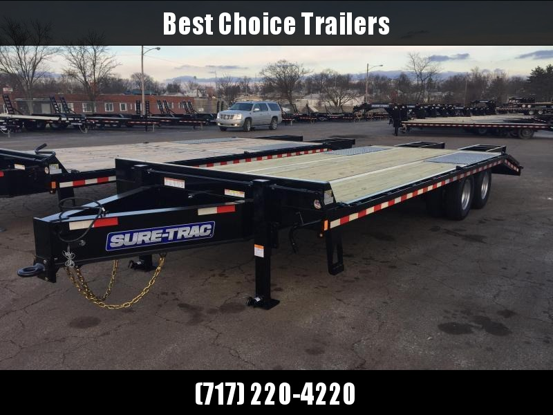 "2020 Sure-Trac 102x30' HD Beavertail Deckover Trailer 22500# GVW * PAVER SPECIAL * OAK BEAVERTAIL/DECK/RAMPS * DEXTER AXLES * FLIPOVER RAMPS * 12"" I-BEAM * PIERCED FRAME * RUBRAIL/STAKE POCKETS/PIPE SPOOLS/(10) 1"" D-RINGS * CROSS TRAC BRACING"