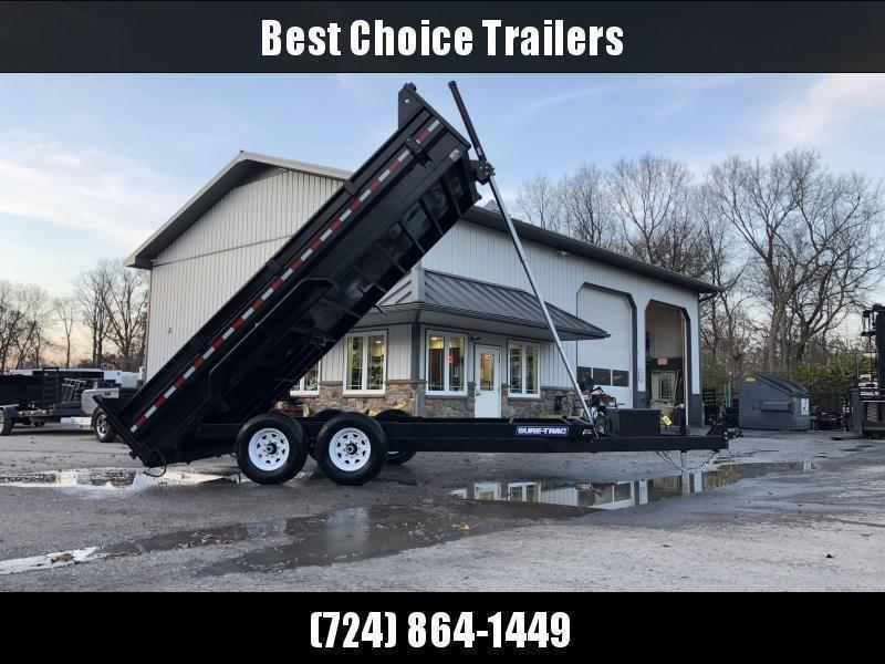 2020 Sure-Trac 7x16' LowPro HD Dump Trailer 14000# GVW * TELESCOPIC HOIST