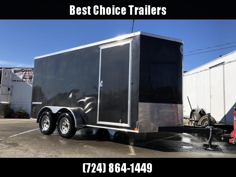 2019 Wells Cargo 7x14' Road Force Enclosed Cargo Trailer 7000# GVW * BLACK * RAMP DOOR * V-NOSE * .030 * 1 PC ALUM ROOF * 7' HEIGHT UTV PKG* TUBE STUDS * SCREWLESS * ARMOR GUARD