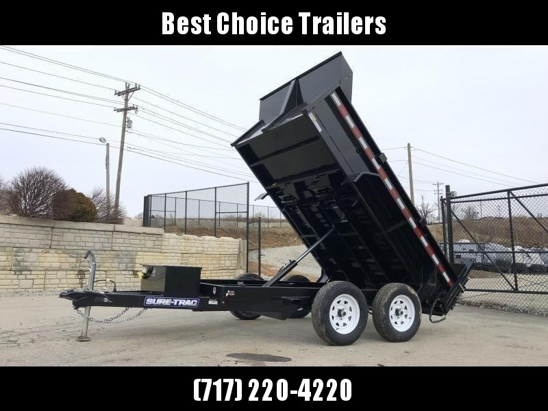 2020 Sure-Trac 6x10' Dump Trailer 7000# GVW * UNDERMOUNT RAMPS * COMBO GATE * FRONT/REAR BULKHEAD * INTEGRATED KEYWAY * SPARE MOUNT * TARP PREP * D-RINGS * HD FENDERS * POWER UP/ DOWN * TRIPLE TUBE TONGUE * POWDERCOATED * SEALED HARNESS