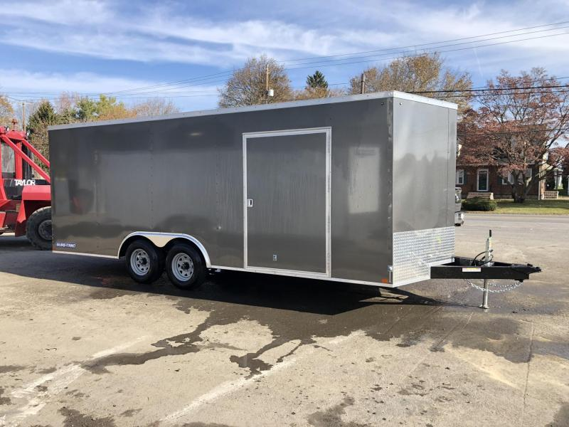 "2020 Sure-Trac 8.5x20' Enclosed Car Hauler Trailer 9900# GVW * CHARCOAL * SEMI-SCREWLESS * 16"" OC * 48"" RV DOOR * TUBE STUDS * 6"" TUBE FRAME * .030 EXTERIOR"