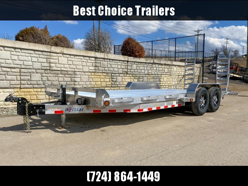 2020 Ironbull 7X20' Aluminum Equipment Trailer 14000# GVW * EXTRUDED FLOOR * ALUMINUM FRAME * STAND UP RAMPS * ALUMINUM WHEELS