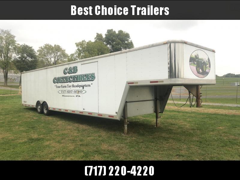 USED Exiss 8.5x40' Aluminum Gooseneck Enclosed 2-Car Hauler Trailer 14000# GVW * ALUMINUM INTERIOR * EXTRUDED FLOOR * GOOSENECK * DEXTER TORSION