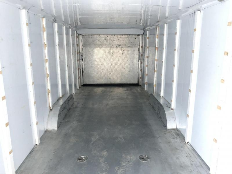USED Exiss 8.5x40' Aluminum Gooseneck Enclosed 2-Car Hauler Trailer 14000# GVW * ALUMINUM INTERIOR * EXTRUDED FLOOR * GOOSENECK * DEXTER TORSION
