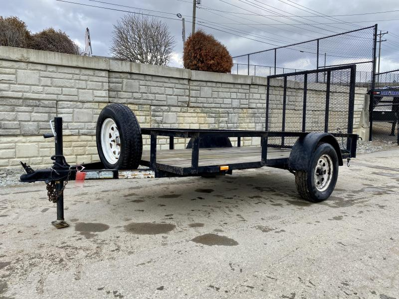 USED 2009 Top Brand 5x10' Utility Landscape Trailer 2990# GVW * SPARE TIRE & MOUNT