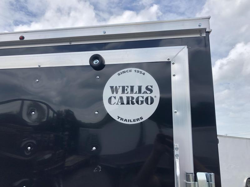"2020 Wells Cargo 7x16' Fastrac DELUXE Enclosed Cargo Trailer 7000# GVW * BLACK EXTERIOR * RAMP DOOR * V-NOSE * .030 EXTERIOR * 6'6"" HEIGHT * TUBE STUDS * 3/8"" WALLS * 1 PC ROOF * 16"" O.C. WALLS * BULLET LED'S"