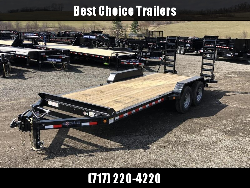"""2020 Ironbull 7x20' Equipment Trailer 14000# GVW * STAND UP RAMPS * I-BEAM FRAME * CHAIN TRAY * D-RINGS * REMOVABLE FENDERS * 16"""" O.C. STRUCTURAL CHANNEL C/M * ADJUSTABLE CAST COUPLER * 12K JACK * DEXTER'S * CLEARANCE"""