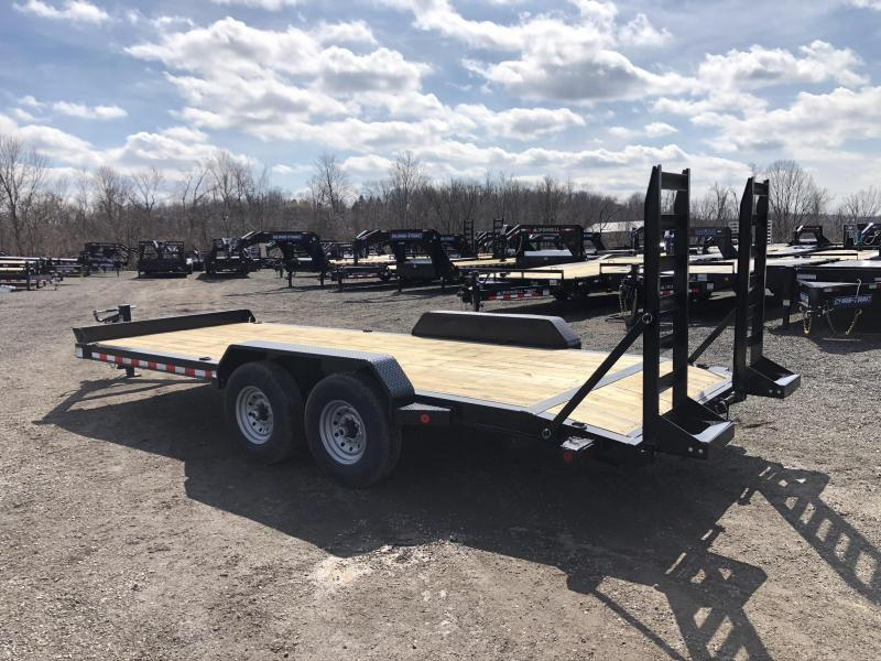 "2020 Ironbull 7x20' Equipment Trailer 14000# GVW * STAND UP RAMPS * I-BEAM FRAME * CHAIN TRAY * D-RINGS * REMOVABLE FENDERS * 16"" O.C. STRUCTURAL CHANNEL C/M * ADJUSTABLE CAST COUPLER * 12K JACK * DEXTER'S * 2-3-2 WARRANTY"