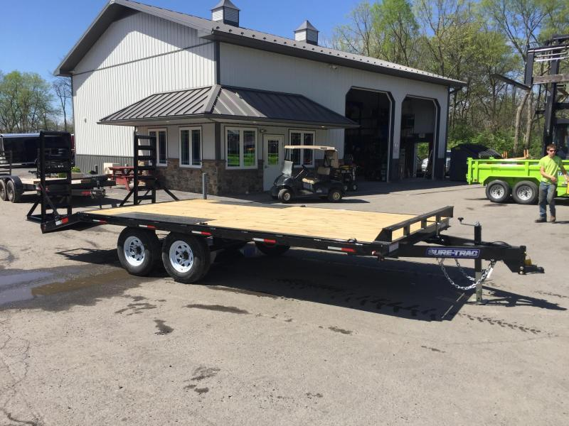 2020 Sure-Trac 102x15+3 9990# Beavertail Deckover Equipment Trailer STAND UP RAMPS * CLEARANCE