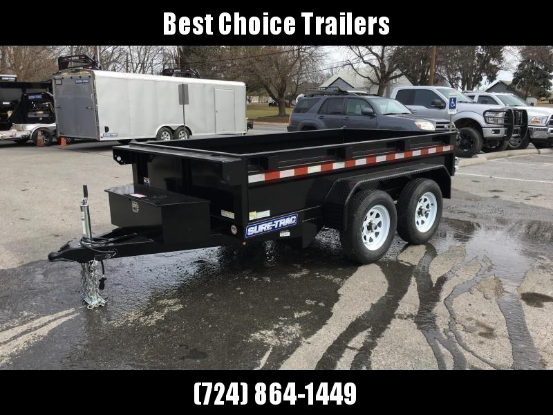 2020 Sure-Trac 5x10' Tandem Axle Dump Trailer 7000# GVW * BARN DOORS * INTEGRATED KEYWAY * SPARE MOUNT * TARP PREP * D-RINGS * DIAMOND PLATE FENDERS * POWER UP/ DOWN * TRIPLE TUBE TONGUE * BULLET LED'S * RADIALS * POWDERCOATED * SEALED HARNESS