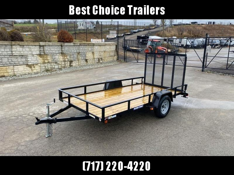 """2019 Sure-Trac 6x10' Utility Landscape Trailer 2990# GVW * 2X2"""" TUBE GATE C/M + FOLD FLAT * TOOLESS GATE REMOVAL * CHANNEL TONGUE * REAR BOARD RETAINER * HD FENDERS * ZINC JACK * RADIAL TIRES * CLEARANCE"""