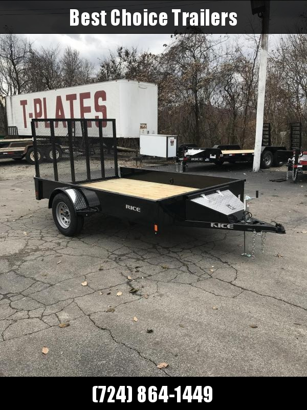 """NEW Rice 76""""x10' Pipe Top Solid Side Utility Landscape Trailer 2990# GVW * RSP7610 * PIPE TOP * TUBE GATE * FRONT TOOLBOX * CLEARANCE"""