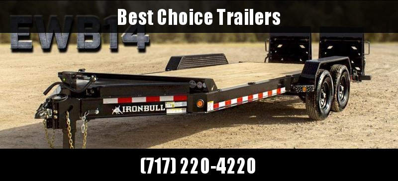 "2020 Iron Bull 7x20' Equipment Trailer 14000# GVW * FULL WIDTH RAMPS * 8"" I-BEAM FRAME * OVERSIZE TOOLBOX * DEXTER AXLES * HD COUPLER"