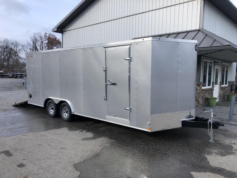 2020 Wells Cargo 8.5x24' Fastrac Enclosed Car Trailer 9990# GVW * SILVER EXTERIOR * RAMP DOOR * 5200# AXLE UPGRADE