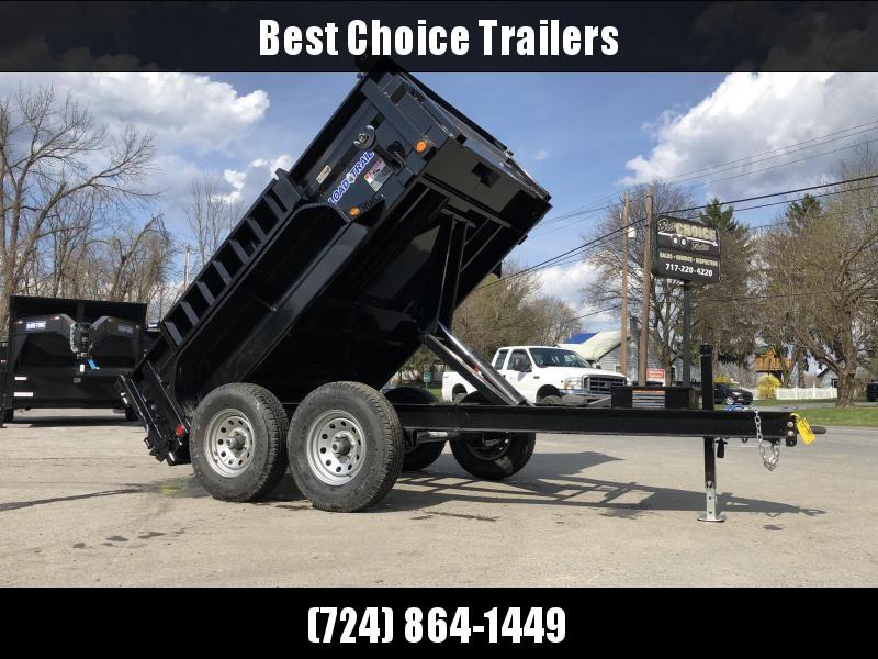"""2019 Load Trail 6x10' Dump Trailer 9990# GVW * DT7210052 * 2' SIDES * 3-WAY GATE * I-BEAM FRAME * TARP KIT * SCISSOR HOIST * 16"""" RUBBER * 6"""" TUBE BED FRAME * 110V CHARGER * DEXTER'S * 2-3-2 * POWDER PRIMER"""