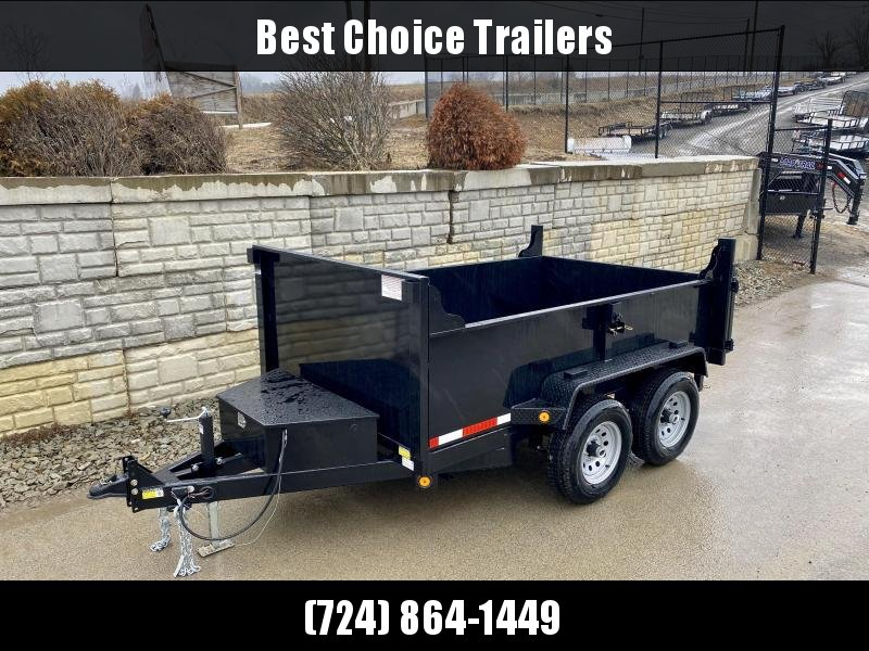 2020 QSA 6x10' Low Profile Dump Trailer 9850# GVW * 2' SIDES * OVERSIZE TOOLBOX * FRONT/REAR BULKHEAD * DROP LEG JACK * ADJUSTABLE COUPLER * LED'S * TRIPLE TUBE TONGUE * TUBE TONGUE/FRAME * JACKSTAND PREP * SPARE MOUNT * POWDERCOATED