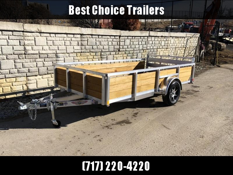 "2019 H&H 76x12' Aluminum Wood High Side Utility Landscape Trailer 2990# GVW * 2' HIGH SIDES * BI FOLD GATE * ALUMINUM WHEELS * TUBE TOP * TRIPLE TUBE TONGUE * TUBE TONGUE * SWIVEL JACKS * STAKE POCKETS * EXTENDED 54"" GATE * CLEARANCE"