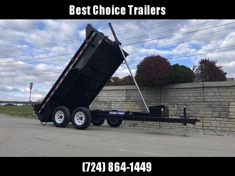 2019 Sure-Trac 6x10' Dump Trailer 9900# GVW * TELESCOPIC HOIST UPGRADE * ADJUSTABLE COUPLER