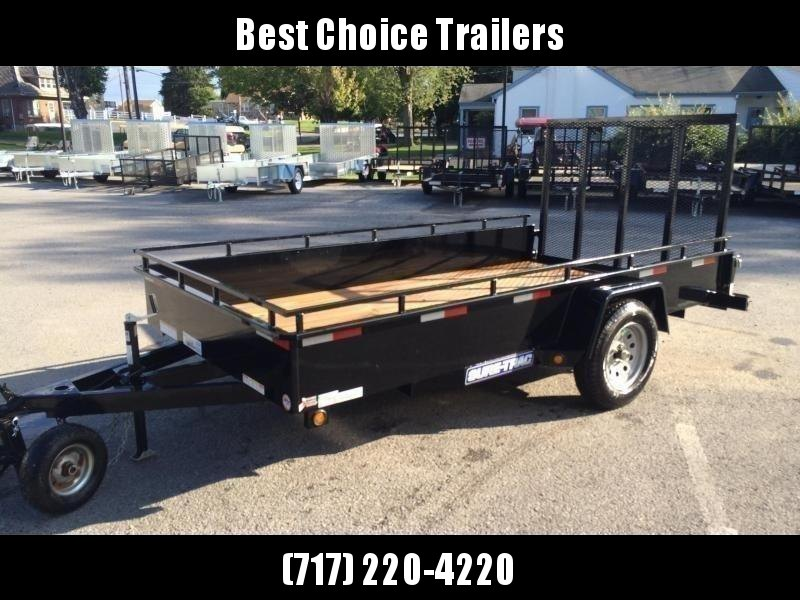 """2020 Sure-Trac 6x10' Solid Side Utility Landscape Trailer 2990# GVW * 2X2"""" TUBE GATE C/M + SPRING ASSIST * FOLD FLAT GATE * TOOLESS GATE REMOVAL * SPARE MOUNT * PROTECTED WIRING * SET BACK JACK * TRIPLE TUBE TONGUE * HD FENDERS * TUBE BUMPER * HIGH SIDE"""