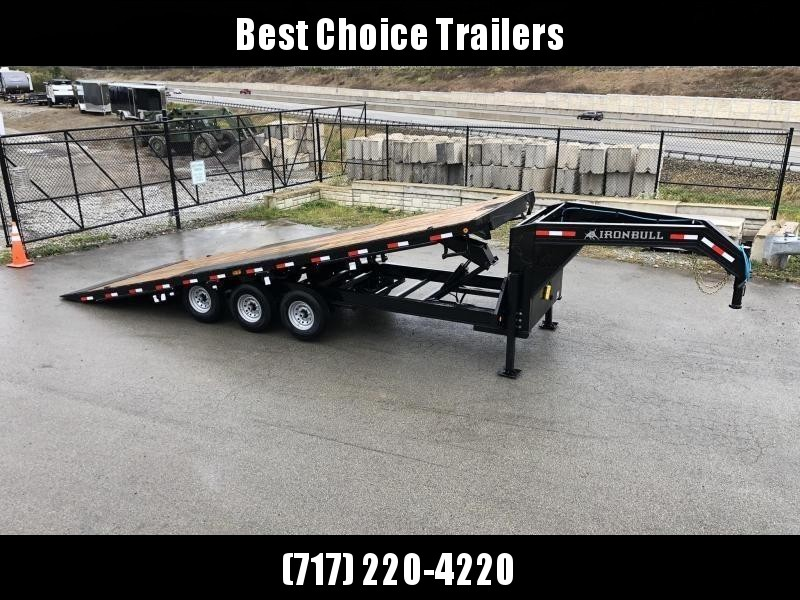 2020 Ironbull 102x26' Gooseneck Deckover Power Tilt Trailer 21000# GVW * HYDRAULIC JACKS * WIRELESS REMOTE * WINCH PLATE * TRIPLE AXLE * SLIDING WINCH TRACK * I-BEAM FRAME * RUBRAIL/STAKE POCKETS/PIPE SPOOLS/D-RINGS/BANJO EYES * 4X4X1/4 WALL TUBE BED RUNN